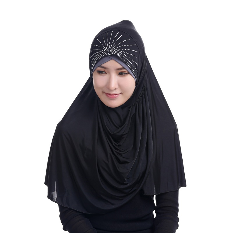 2017 New Muslim Women Under Scarf Hat Cap Bone Bonnet Ninja Hijab Islamic Neck Full Cover Headband S4