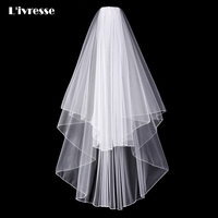 2017 New Arrival Tow Layers Bridal Veil Wedding Mariage Accessoire Face Veil With Pencil Edge