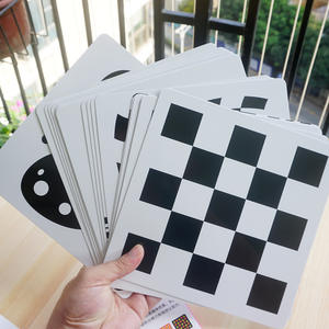 21x21 cm Black white card for Preschool educational baby Visual training card animal