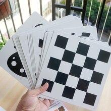 21x21 cm Schwarz und weiß karte für Vorschule pädagogisches baby Visuelle ausbildung karte tier karten kostenloser versand