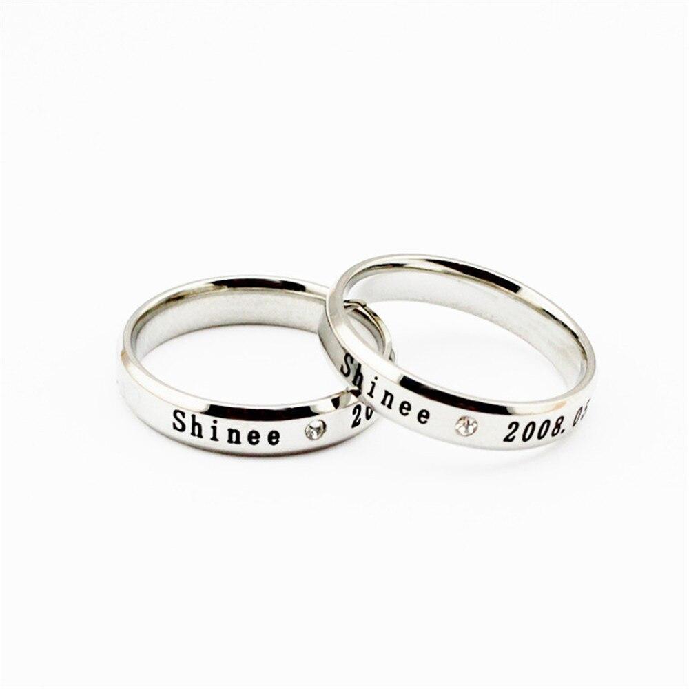 Venta al por mayor KPOP shinee anillo de Plata de Los Hombres o de Las Mujeres anillos S ...