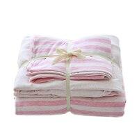 Stripe Duvet Cover Set Winter Duvet Cover Bedsheet Pillowcase 4pc Bedding Sets Full Queen King Size