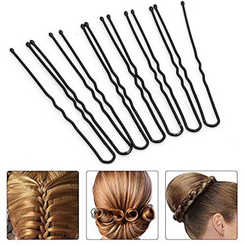 50/100 pcs/lot U Bun Pins Hair Grips U Shape Pin Hair Pins up
