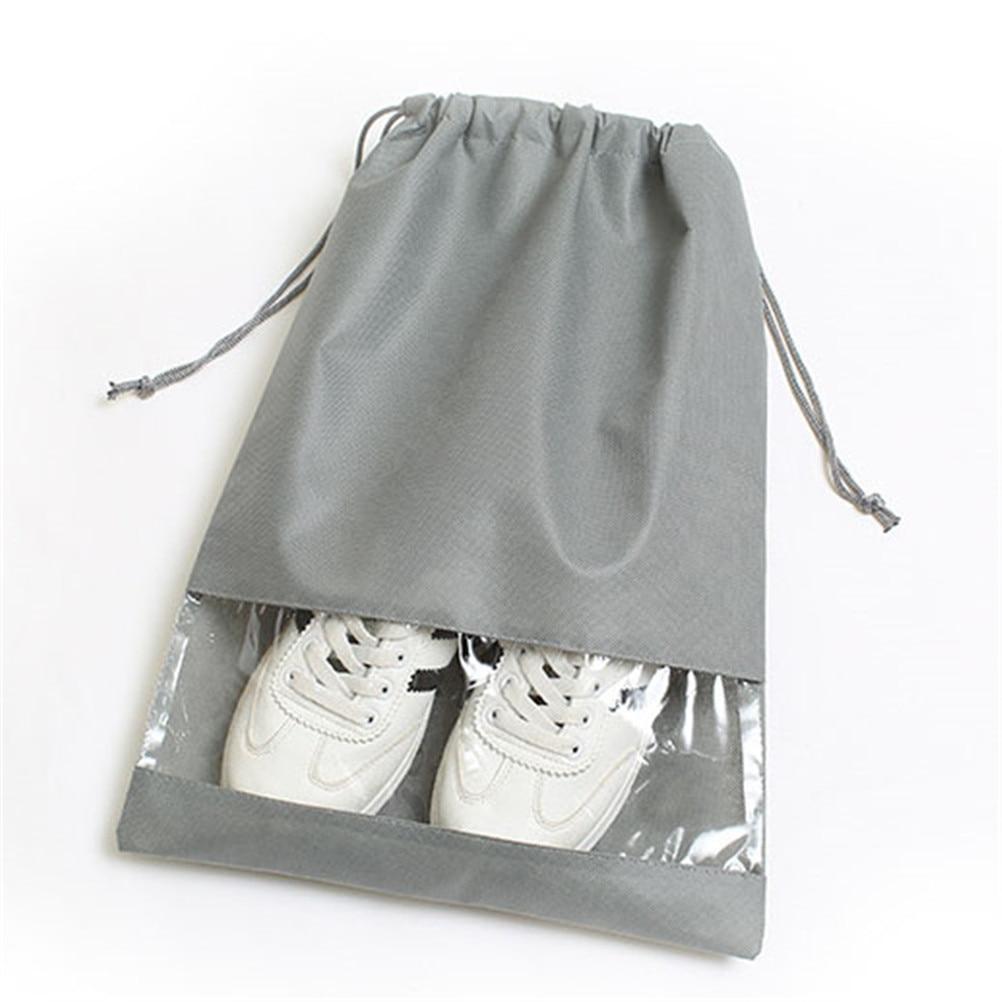1PCS M L Size Clothes Luggage Bags Shoe Bag Travel Canvas Lightweight Drawstring Pouch Bag 2Sizes
