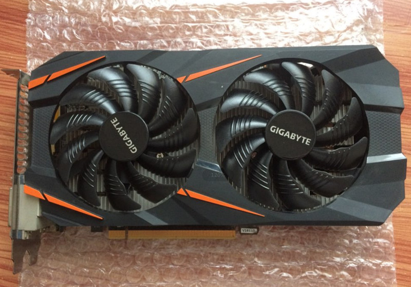 GIGABYTE Video Card GTX 1060 3GB Graphics Cards Map For nVIDIA Geforce GTX1060 OC GDDR5 192Bit Hdmi Videocard CardsGV-N1060WF2OC(China)