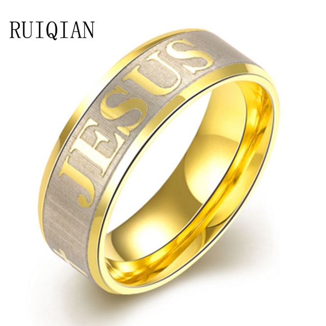 New Arrival Letters To Rule Them All Male One Ring Men Jewelry ...