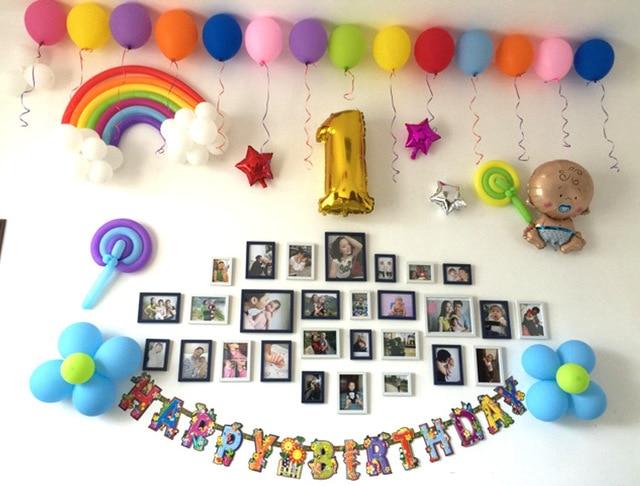 25pcsbag rainbow latex balloons wedding Valentines Day birthday