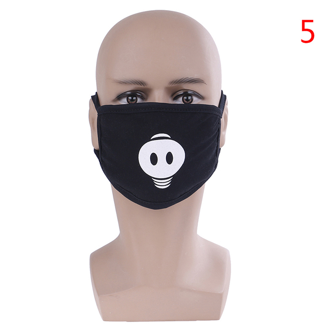 Unisex Black Anti-Dust Cute Bear Cotton Mouth Face Mask Respirator For Cycling Anime Cartoon Kpop Lucky Bear Women Men Muffle 5