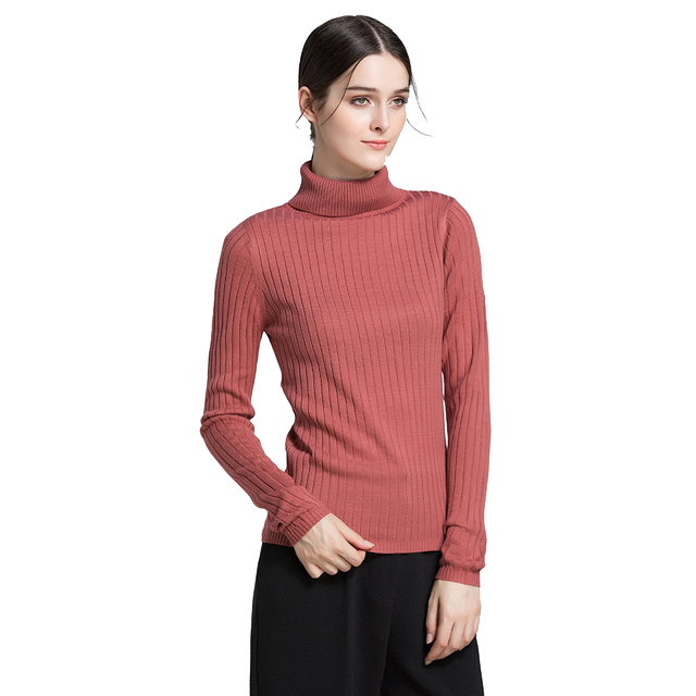 STYLE Winter Warm Turtle Neck Solid Rib Knit Women Sweaters Soft Streetwear  Autumn Basic Office Ladies Jumper Pullover Tops b711f0a58