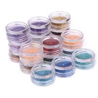 45 Colori del Cielo Nail Art Glitters Polvere Splendido Polvere Shinning di Scintillio Della Decorazione Nail Polvere Glitter Shinning Specchio Nail Art FAI DA TE