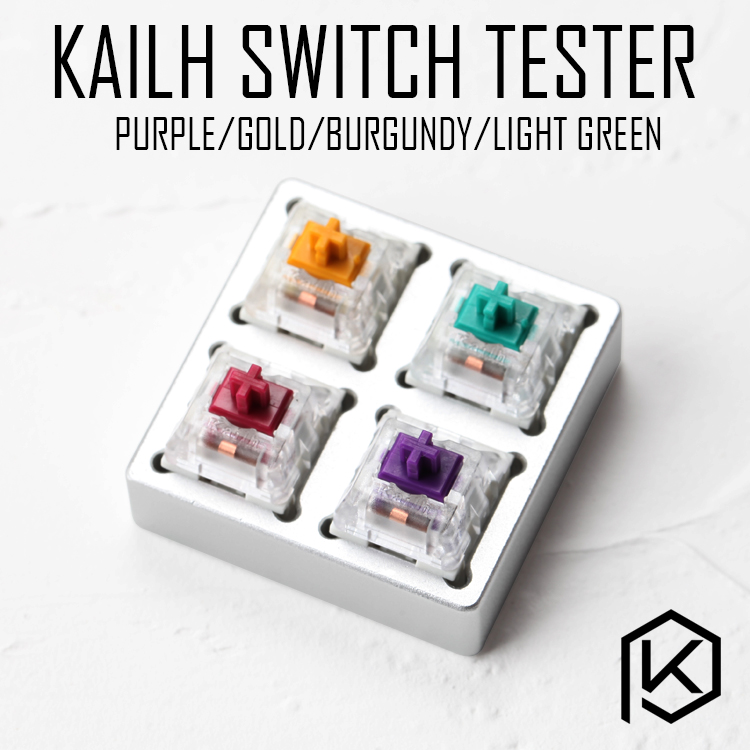 aluminum Switch <font><b>Tester</b></font> 2X2 silver for kailh pro speed switches purple aqua light green burgundy RGB SMD for <font><b>Mechanical</b></font> <font><b>Keyboard</b></font> image