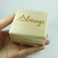Wood wind up music box harry potter always special gifts for lovers, childrens