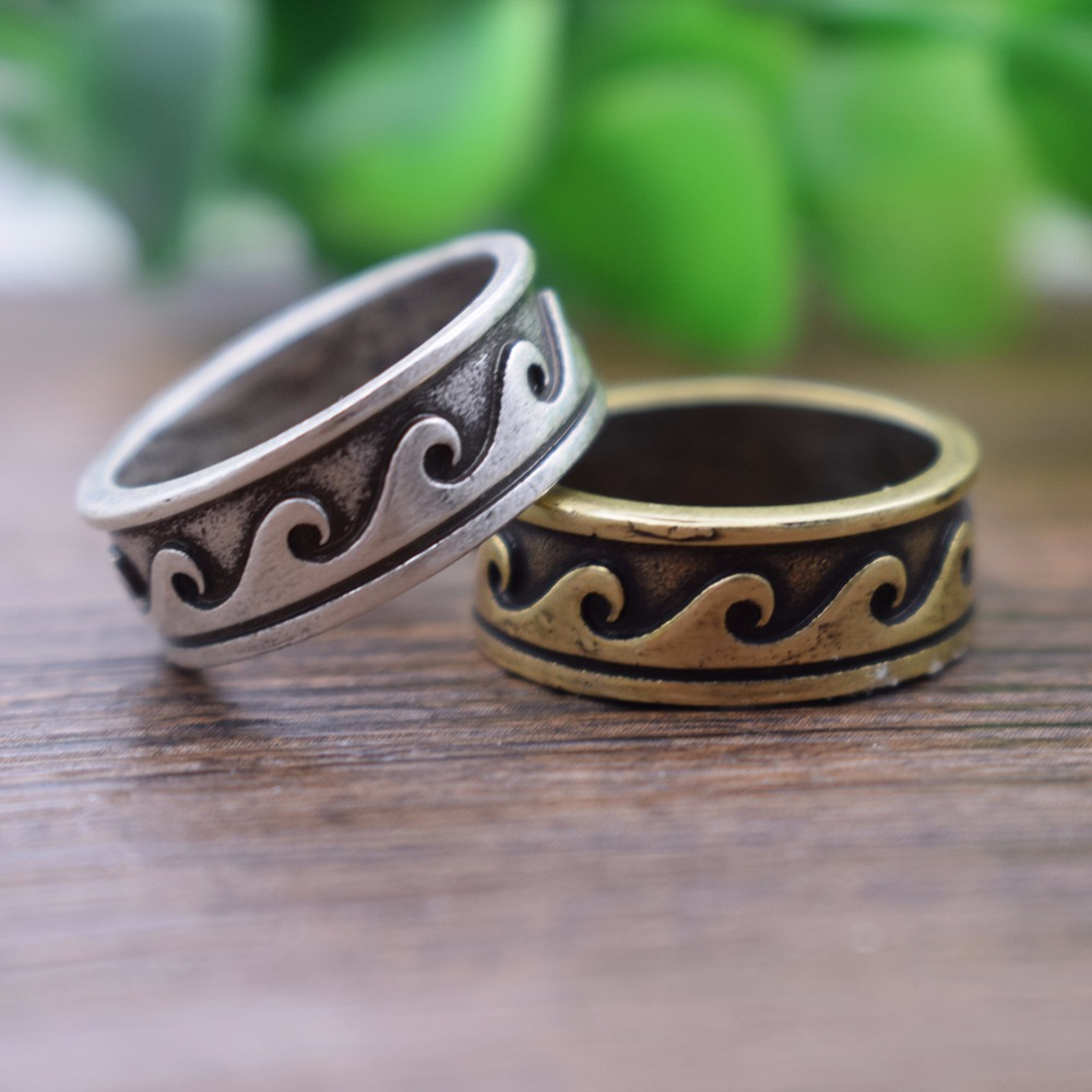 Antique Silver Plating Circle Stone Mood Ring