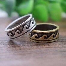 SanLan античное посеребренное модное природное волнистое кольцо для пары Изысканные кольца для серфера океанские ювелирные изделия, Гаваи племенные ювелирные изделия