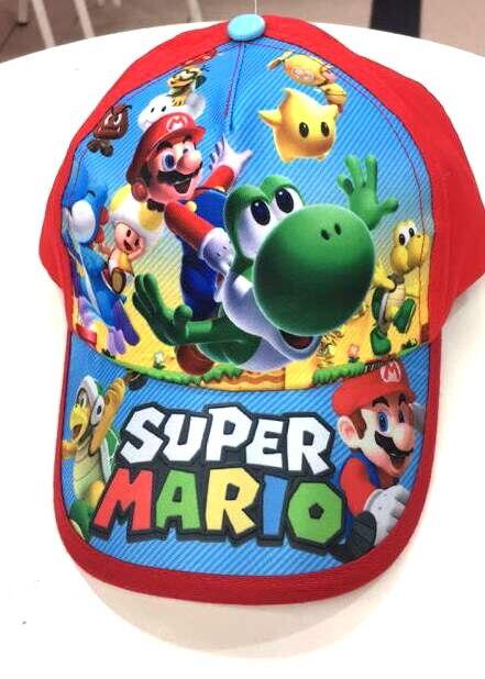 New  1pcs Super Mario Fashion Sun Hat Mario Casual Cosplay Baseball Cap Child Gift T6