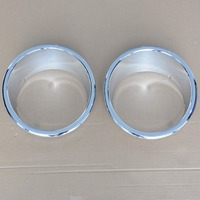 2x Chrome Front Head Light Covers Ring Trim For Jeep Wrangler 2007 2008 2009 2010 2011 2012 2013 2014 2015 [QPA222]