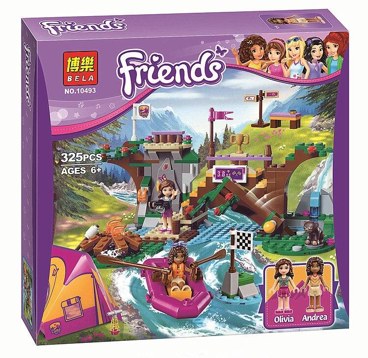 01003 325Pcs 10493 Friends Adventure Camp Rafting 41121 Minifigures Building Blocks Set Model Brick Girl Toy Compatible 41119