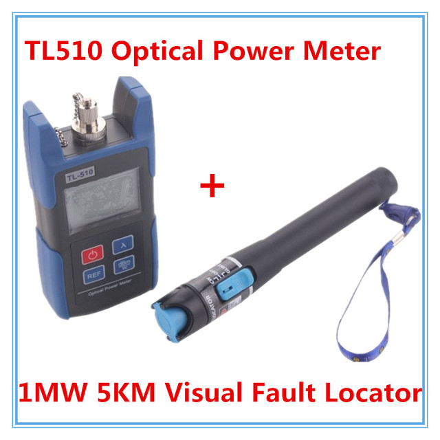 TL510A -70~+10dB FC SC Connector Handheld Optical Power Meter with TL532 Red Laser Visual Fault Locator 1mw