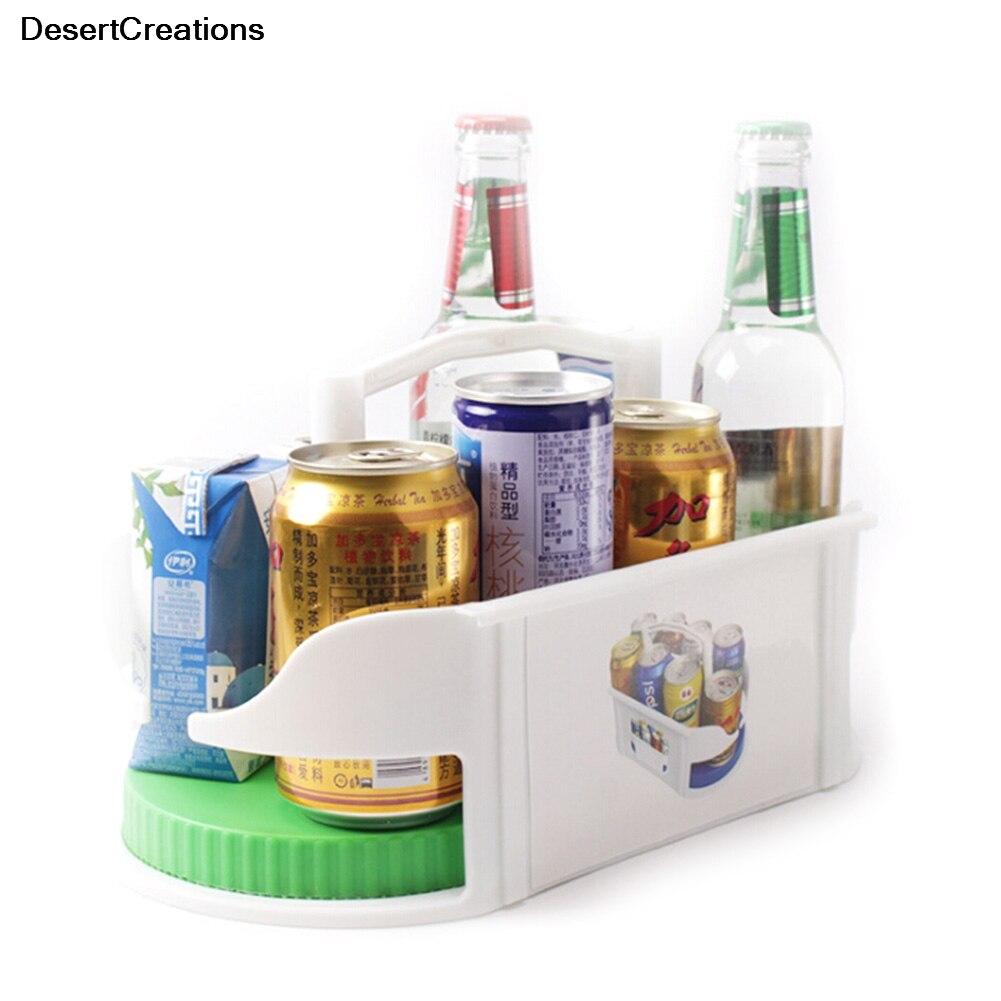 360 Degree Rotation Seasoning Storage Rack Drink Organizer