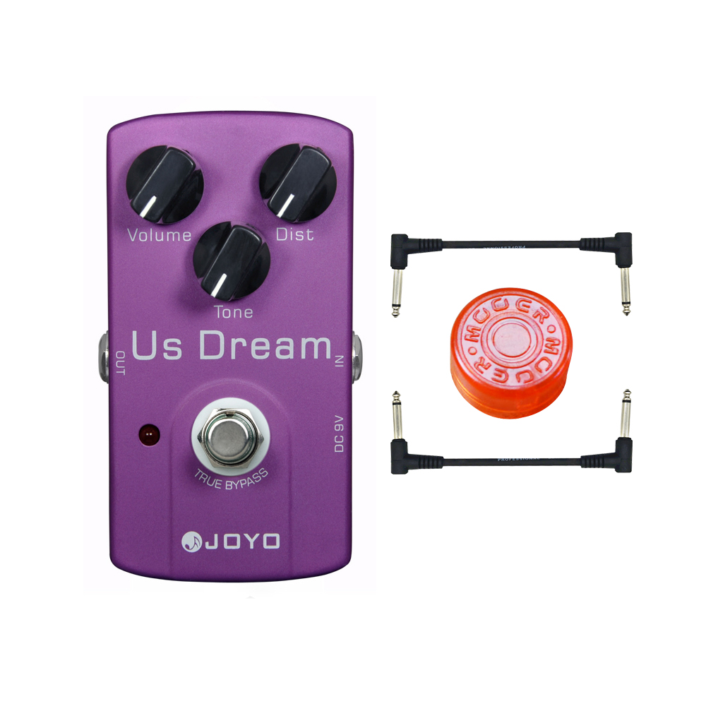цена на Joyo JF-34 US Dream Electric Guitar Effect Pedal Box High Gain Distortion & True Bypass & 3 Knobs Guitar Accessories