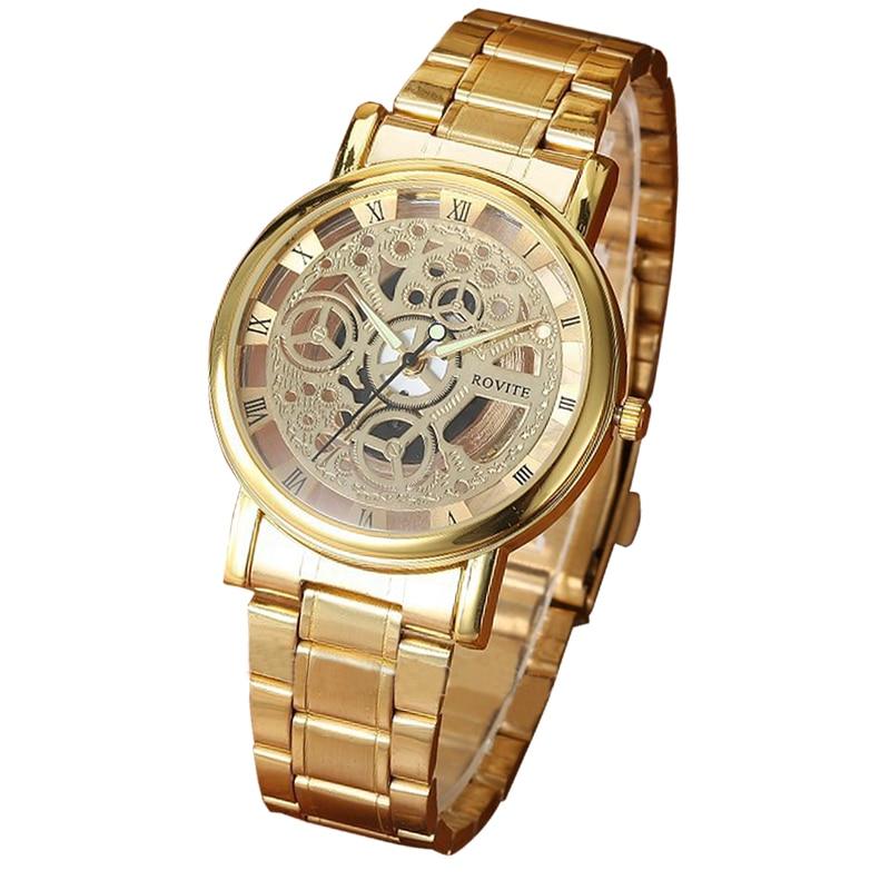 Top márka luxus női órák 2018 Golden Geneva kvarc rozsdamentes - Férfi órák