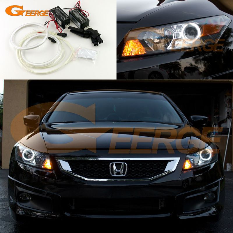 For Honda Accord Coupe 2008 2009 2010 2011 Excellent Angel Eyes Ultra Bright Illumination Ccfl