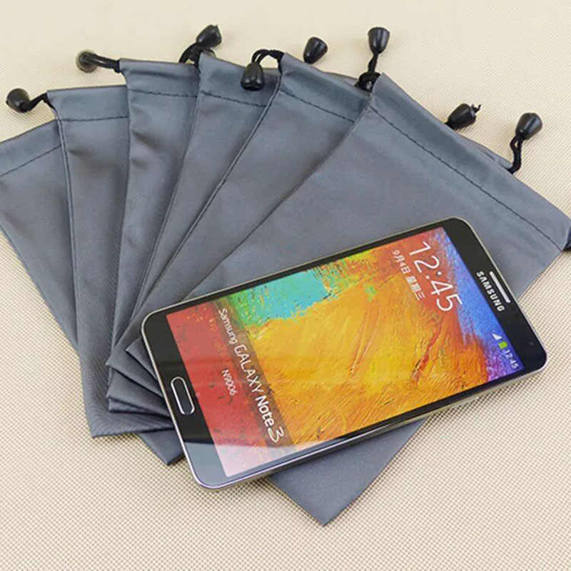Tas Penyimpanan Tahan Air Ponsel Case Pouch Universal Nilon Telepon Tas Lembut Lengan Case Kantong untuk Iphone Samsung Xiaomi Doogee