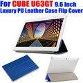 Для CUBE U63GT 9.6 Дюймов Оригинальный Роскошный Кожаный PU Case откидная Крышка Кристалл Назад Tablet pc Case Для CUBE U63GT CB05