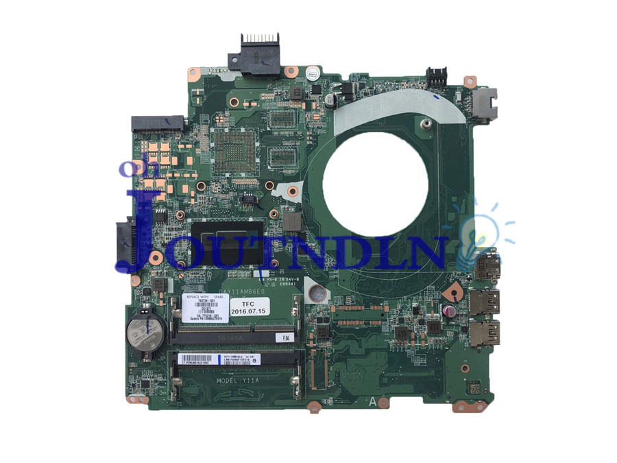 JOUTNDLN FOR HP Pavilion 14-V Laptop Motherboard 31Y11MB09L0 763734-501 763734-001 DAY11AMB6E0 W/ i5-4210U CPU