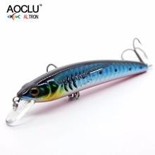 Купить с кэшбэком 2018 AOCLU NEW lures wobbler Jerkbait 80mm 7g Hard Bait Minnow fishing lure saltwater Bass Fresh VMC hooks 6 colors LURE tackle