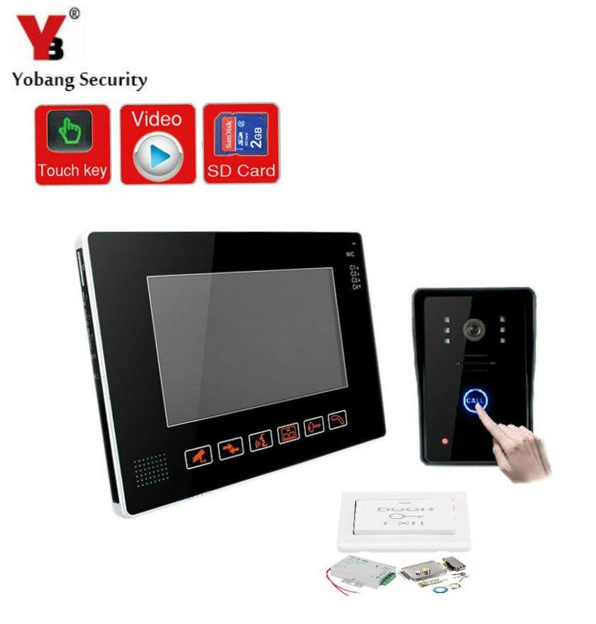 YobangSecurity 9 Inches Wired Video Doorbell Door Chime,Rainproof Door Phone with Video Recording and PhotoTaking Door Lock