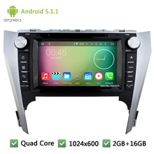Quad core WIFI Android 5.1.1 2Din 8″ FM BT 1024*600 Car DVD Player Radio Stereo PC Audio Screen GPS For Toyota Camry 2012-2014