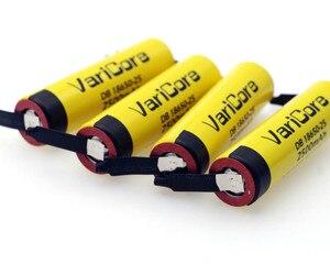 Image 3 - Varicore 100% オリジナル18650 2500 2200mahのリチウム経度充電式バッテリー3.6v電源20A放電 + diyニッケルシート