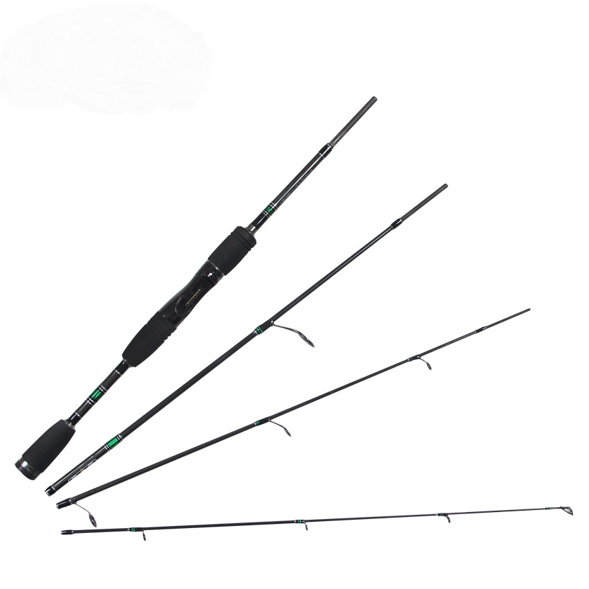 ᗔSpinning casting Lure Rod 4 Sección 1.98 m Power portable carpa ...