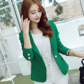 Korean Designer 2016 Office Ladies Green Blazer Feminino Women Formal Blazers and Elegant Jackets Bleiser Coats Americanas Mujer