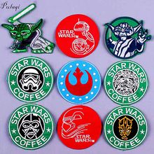 Pulaqi DIY Star Wars Patch Embroidery Badge Patches for Clothing Iron on Clothes Punk Stripe Hippie Applique F