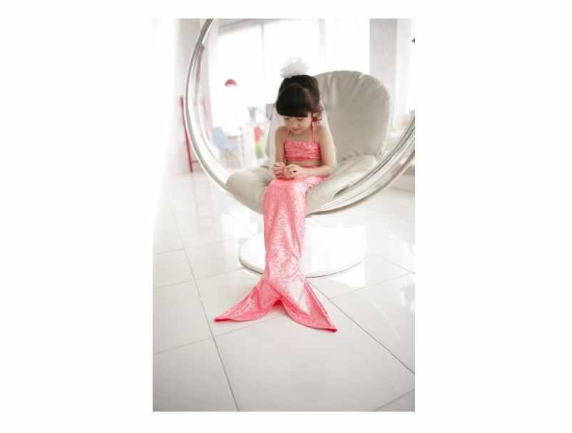 Ogon syrenki dla dziewczynek strój kąpielowy pokojówka Fantasia księżniczka Bikini stroje kąpielowe dla dzieci dzieci sukienka fairy tail