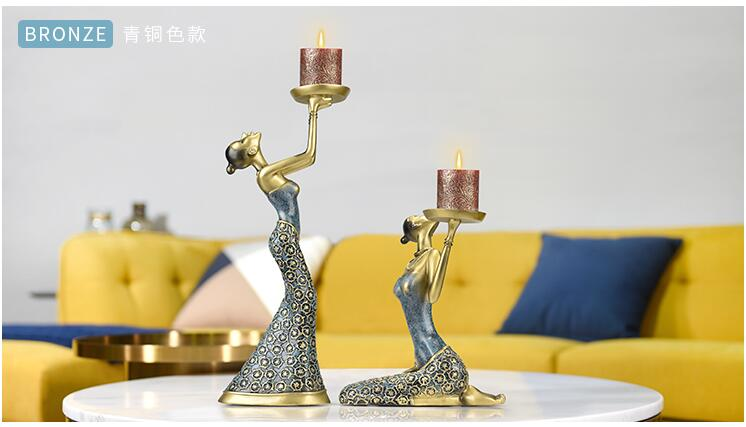 Creative retro candlestick maker 39 s European style dining room table furniture soft decoration romantic candlelight dinner props in Bottles Jars amp Boxes from Home amp Garden