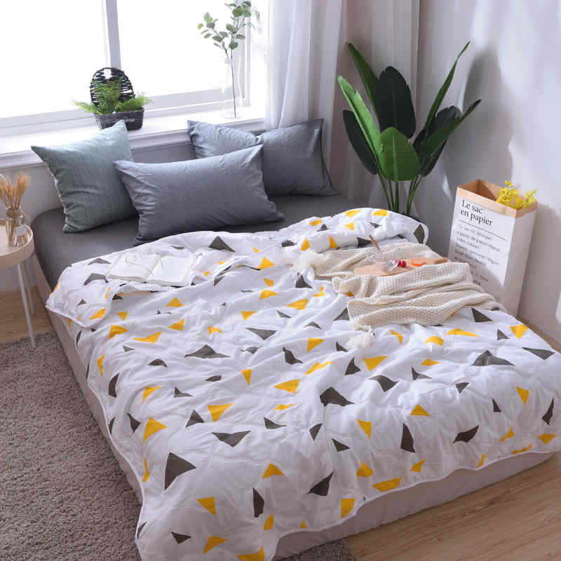 2019 New Owl Fish Flamingo Summer Quilt Blankets Cartoon Comforter Bed Cover Quilting for Adults Kids Home Textile bed linings