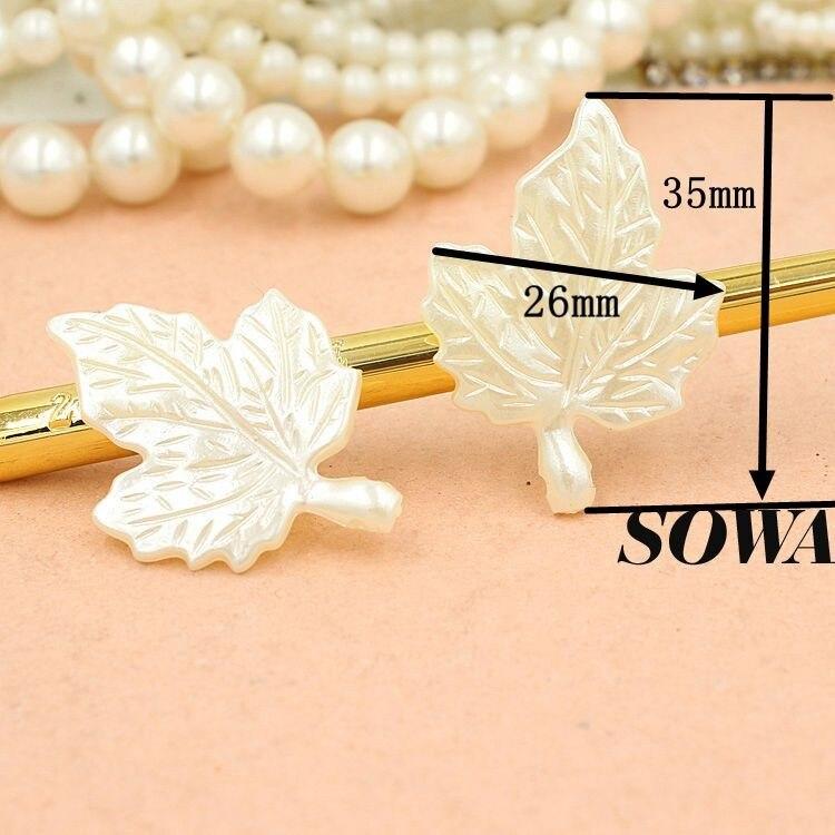 Размер 35*26 мм 30 шт./лот цвет слоновой кости ABS смолы имитация жемчуга эффект 3D Кленовый лист предназначен для изготовления ювелирных изделий DIY