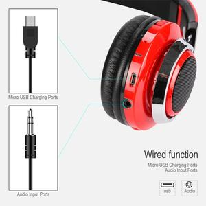Image 4 - KOOYUTA Glowing Stereo Casque Audio Bluetooth Headphone Wireless LED Sport Headset with Mic Support TF&FM Function Auriculares