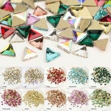 30 шт./лот стекло дизайн ногтей Стразы мини треугольники 11 Стиль Красочные камни для дизайна ногтей подвеска с прозрачными стразами 3d-украшения для ногтей
