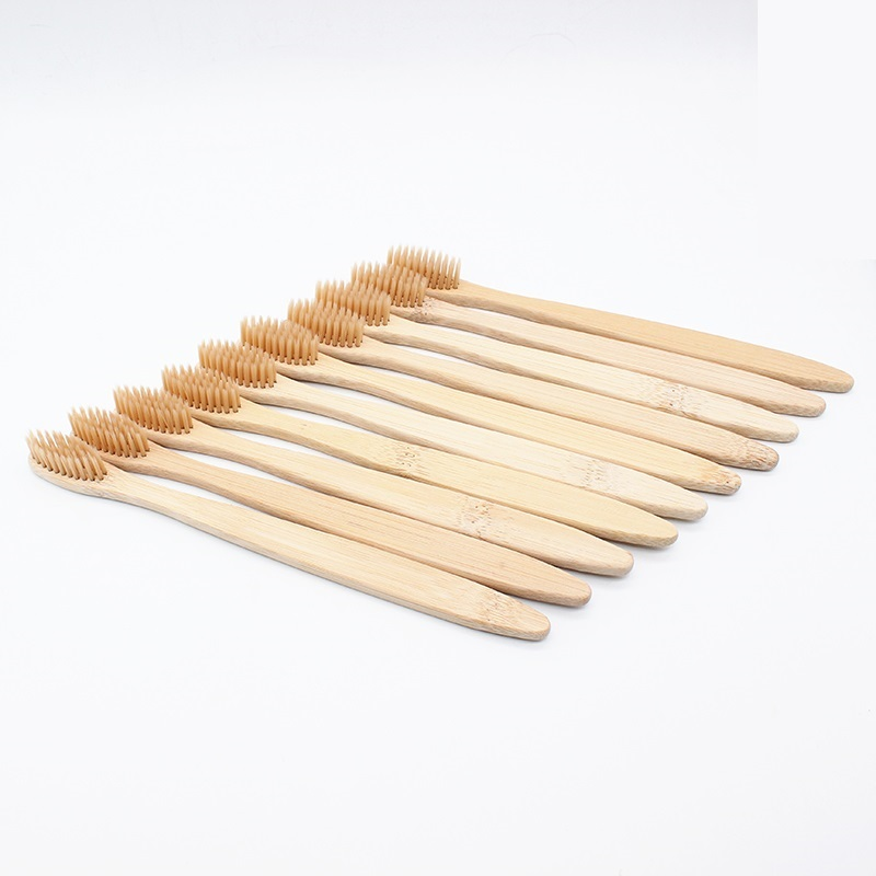 Wholesale 20PCS Environmentally Wood Toothbrush Bamboo ToothBrush Bamboo Fibre Wooden Handle Tooth Brush Teeth Whitening