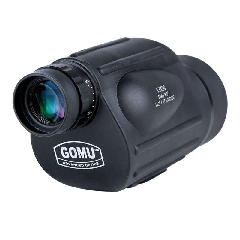 GOMU 13x50 binoculars with font b rangefinder b font waterproof telescope distance meter type monocular outdoor
