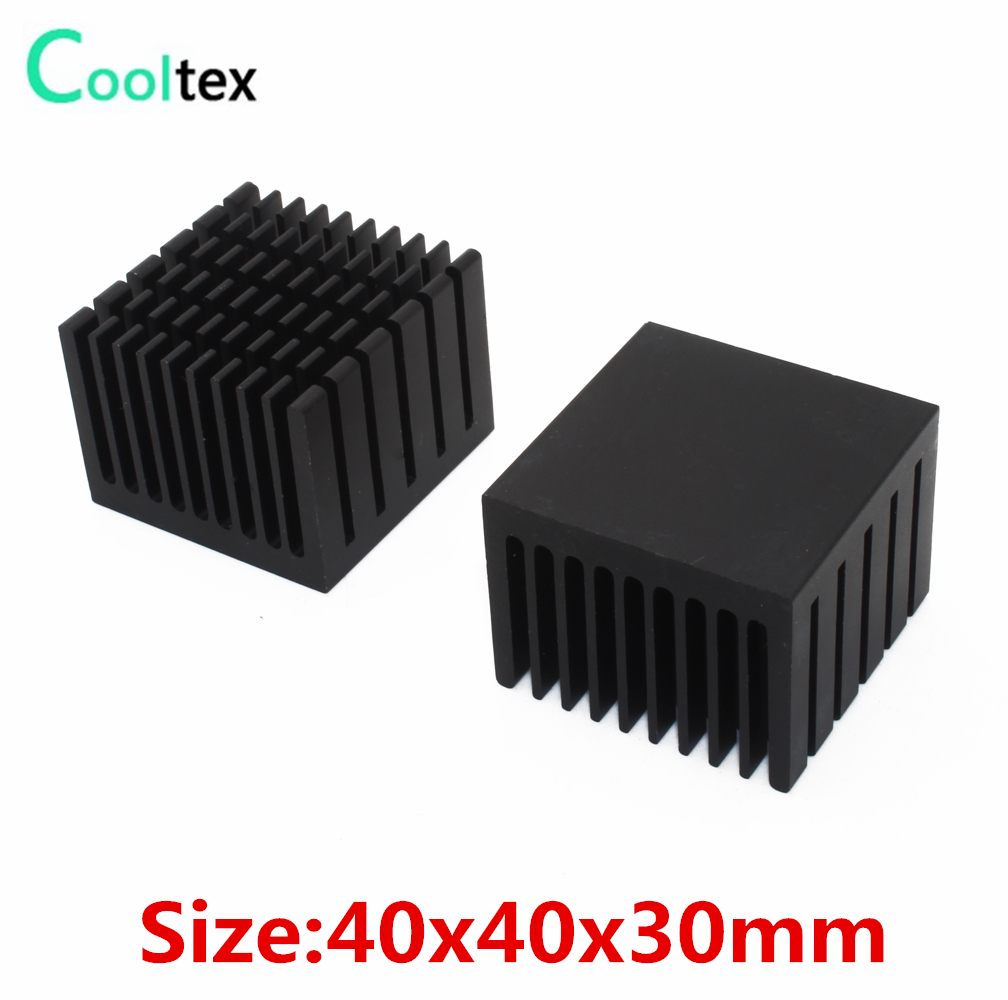5pcs / lot 40x40x30mm Alüminium HeatSink qara İstilik Sink radiatoru elektron Chip LED RAM COOLER soyutma üçün