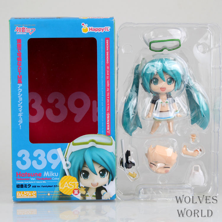 Cute Anime Nendoroid 4 Hatsune Miku Juguetes 339 Figma PVC Action Figure Collection Doll Brinquedos For Kids Toys