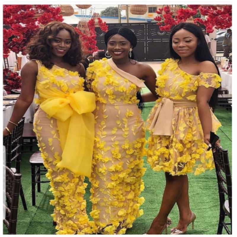 Elegante tela de encaje francés amarillo de alta calidad 3D flores Nigeria Red de encaje francoafricano 2018 con flor 3D para mujeres MM75