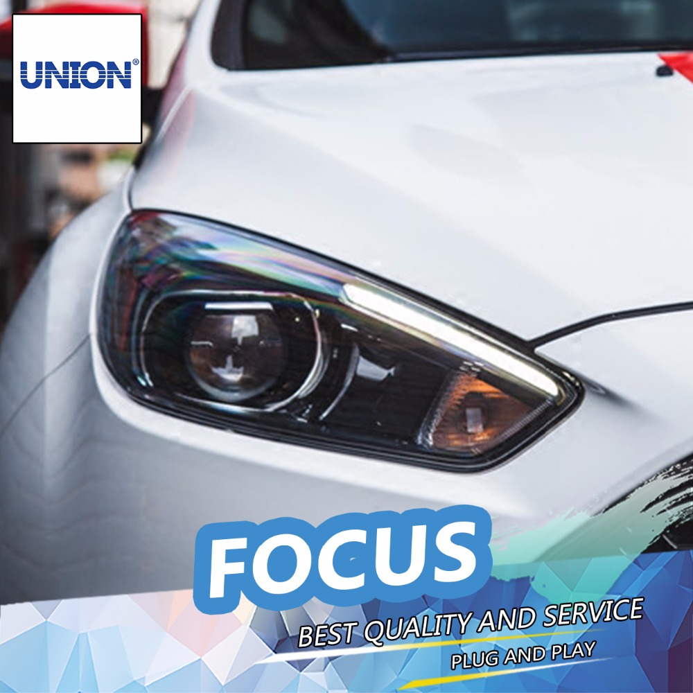 Union car styling for ford focus headlights 2015 2017 news focus led headlight drl lens