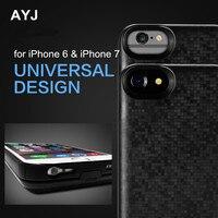 AYJ 3800mAh ogólna dodatkowa bateria obudowa z ładowarką do iPhone 6 6S 7 8 złoty kolor czarny dostępny w Etui z funkcją ładowania baterii od Telefony komórkowe i telekomunikacja na