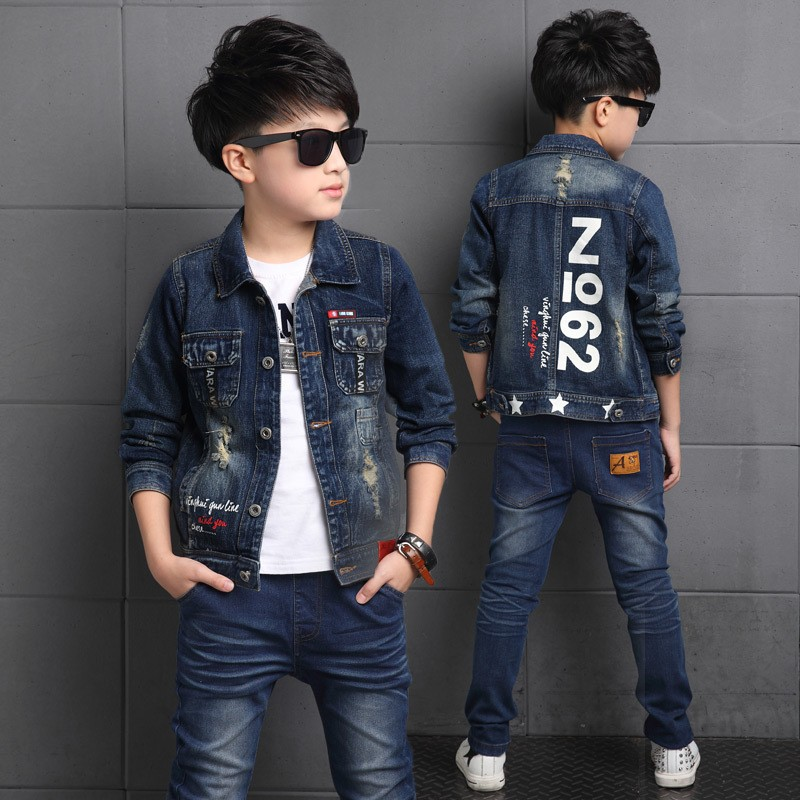 Childrens clothes sets 2019 autumn style infant baby kids clothing suits boys cotton long sleeve 2 pieces jackets denim suitChildrens clothes sets 2019 autumn style infant baby kids clothing suits boys cotton long sleeve 2 pieces jackets denim suit